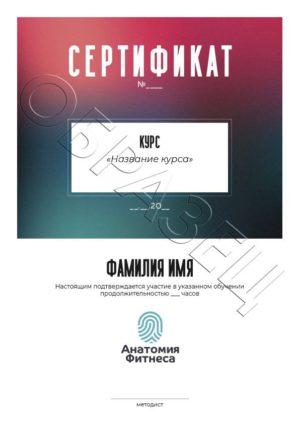 Сертификат установленного образца